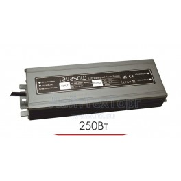 Влагозащищенный блок питания для светодиодной ленты LP 250W 12V IP67 Ultra slim (алюминий)