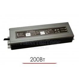 Влагозащищенный блок питания для светодиодной ленты LP 200W 12V IP67 Ultra slim (алюминий)