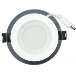 Светодиодная панель LT-R96WH 6W (Круг стекло)