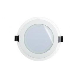 Светодиодная панель LT-R160WH 12W (Круг стекло)