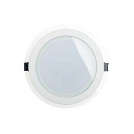 Светодиодная панель LT-R200WH 16W (Круг стекло)